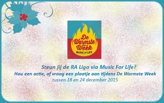 steun de RA Liga vzw via De Warmste Week van Music For Life