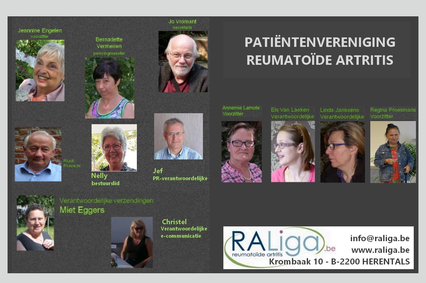 Wie zijn wij? Reumatoïde Artritis Liga vzw