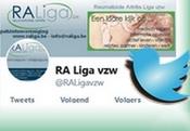 Twitter pagina - RA Liga vzw