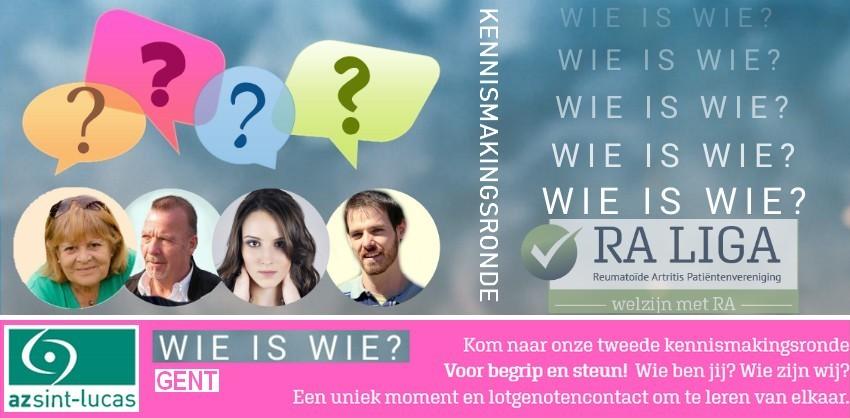 Wie is Wie - kennismakingsronde Gent